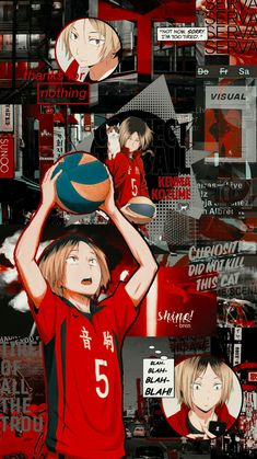 Collage ✔ Anime Aesthetic Icon Haikyuu Do It Yourself Home Decor Haikyuu Kageyama, Kenma Kozume, Haikyuu Manga, Kuroken, Haikyuu Fanart, Haikyuu Tumblr, Wallpaper Animes, Haikyuu Wallpaper, Cute Anime Wallpaper