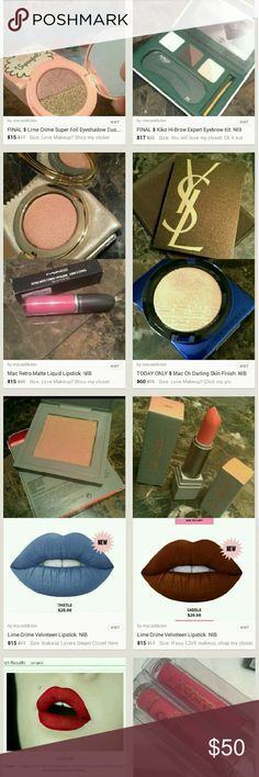 Click my pic. Makeup Galore. Ships TUESDAY Love Makeup?   Want only Authentic items?   Seeking a trusted seller with over 90 glowing reviews?   Expect quick shipping?   Then you found the right closet!   ~ ~ ~ CLICK ON MY PROFILE PIC TO CHECK OUT MY ITEMS   You're bound to find something you love   Reasonable offers accepted on most items unless marked lowest or final price   Bundle discount   No trades   THIS LISTING NOT FOR SALE, JUST ADVERTISING SOME OF MY ITEMS, CLICK ON MY PROFILE PIC…