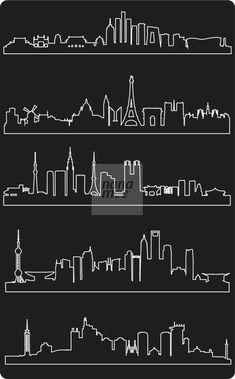 how to draw doodles Line Art Vector, Design, Skyline Drawing, Sketch Book, City Silhouette, Line Art, Chalkboard Art, Lettering, Clip Art