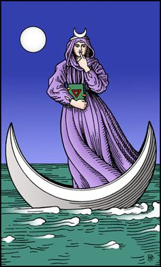 The High Priestess - Alchemical Tarot deck http://alchemicaltarot.com #tarot