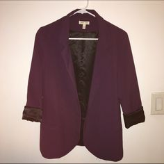 NWOT URBAN OUTFITTERS Purple/black blazer Took tags off but never wound up wearing it! Would go great with the minus the leather Express pants or the Ann Taylor leggings I have listed! Bundle?!  silence + noise Jackets & Coats
