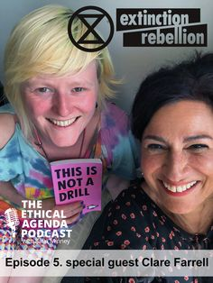 """This is not a drill. Safia Minney talks to co–founder of Extinction Rebellion Clare Farrell about her personal journey from being """"embedded in the machine"""" of retail fashion to leading the hugely influential activist movement against climate collapse. #extinctionrebellion #SafiaMinney #XR"""