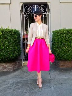 I Dream Of Midi Skirts. by Wannabe Fashion Blogger on Lucky Community