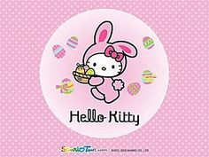 25 Free and Adorable Hello Kitty Wallpapers: Easter Hello Kitty Wallpaper