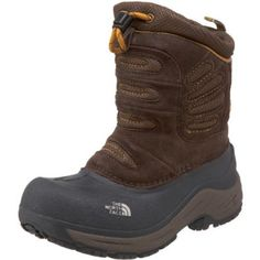 The North Face Snow Plough Pull-On Coffee Brown/Yellow 4 M Big Kid The North Face. $53.96