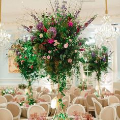 Tall table arrangements #overflowing with #summerblooms for the #weddingbreakfast - another of @catherinemead's spectacular pics from a spectacular #wedding with @bybrucerussell #thesavoylondon #londonwedding #summerwedding #summerevents #eventdesign #floralart #floraldesign #instadesign #floristry #coutureflowers #instaflowers #flowersofinstagram #flowerstagram #ZitaElze #tabledecorations #weddingdecoration #weddingdesign #luxbride #instaweddings #bridetobe #instabrides