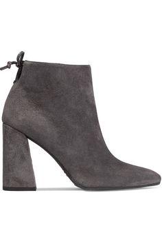 Stuart Weitzman - Grandiose Suede Ankle Boots - Gray