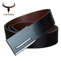 COWATHER 2017 Quality men genuine leather belt