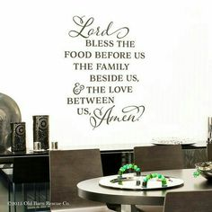 Find This Pin And More On Inspiration Lord Bless The Food Before Us Vinyl Wall Decal Kitchen Quote Dining Room