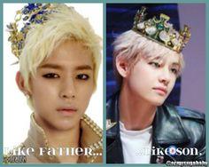 Like Father, Like Son...{Daehyun-ah...BAP...Fighting!}   allkpop Meme Center