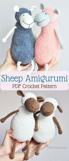 Crochet Sheep Amigurumi pattern. This will make such a cute stuffed toy for my little niece. #sheep #ad #crochetpattern #lamb