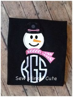 c56623a9bd Items similar to Personalized monogrammed embroidered  appliquéd Snowman  Shirt on Etsy