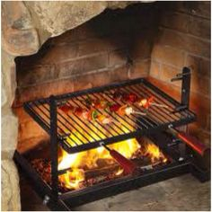 Fireplace grill. I'd really like to use my fireplace to cook in ...