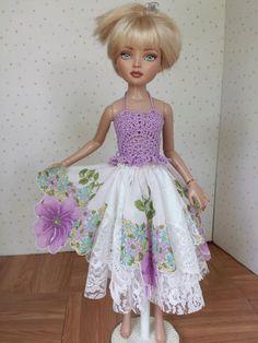 2 PC Hankie Skirt Crocheted Camisole Lilac Ellowyne Wilde and Soulkid MSD | eBay
