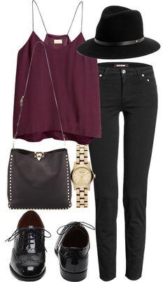 plum and black