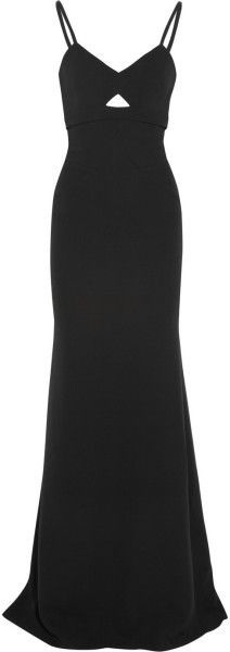 Cutout Silk and Woolblend Gown - Lyst