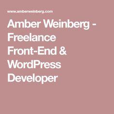 Amber Weinberg - Freelance Front-End & WordPress Developer