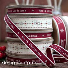 Lovely East of India Christmas Ribbon - perfect finishing touch for those special gifts