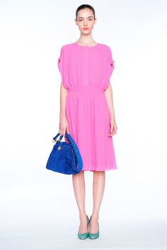 from the J. Crew Spring 2012 show. i love these bright saturated colors, yet the feeling of the clothes remains gentle.
