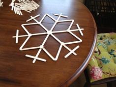popsicle stick snowflake!