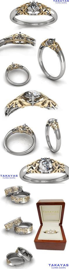 Legend of Zelda Wedding Collection by Takayas Custom Jewelry | http://pinterest.com/zeldanet/zelda-way-of-life/ THIS IS BEAUTIFUL