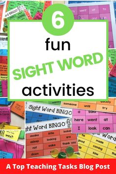 Fun sight word activities draw on both kinesthetic and visual learning and can merge neatly into a play-based learning environment. Visual Learning, Play Based Learning, Reading Fluency, Teaching Reading, Primary Classroom, Kindergarten Classroom, Spanish Language Learning, Language Arts, Word Bingo