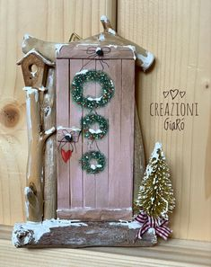 Festive Crafts, Christmas Crafts For Gifts, Christmas Projects, Christmas Diy, Christmas Decorations, Christmas Ornaments, Craft Stick Projects, Craft Stick Crafts, Welcome Home Crafts