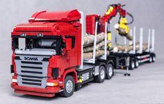 LEGO Scania R620 logging truck by Zbiczasty