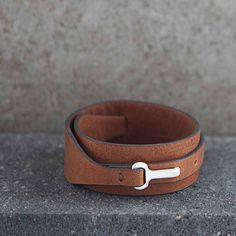 Wrap the Tutti & Co Jewellery Tan Leather Silver Wrap Bracelet round to make a real statement £28.50 from www.lizzielane.com http://www.lizzielane.com/product/tutti-co-jewellery-wide-tan-leather-silver-wrap-bracelet/