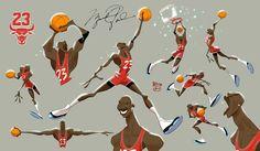 "hebrocharacterdesign:  """"Everyone has a talent but ability takes hard work"" -Michael Jordan-  """