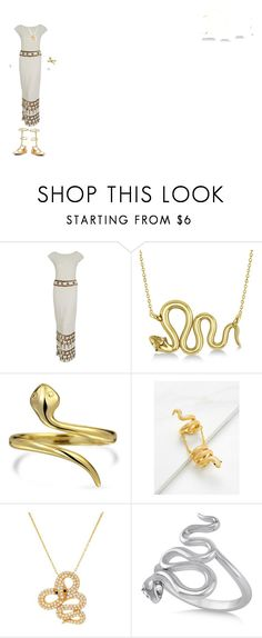 """""""Throne of Glass Nehemia Inspired Outfit"""" by gailgoo on Polyvore featuring Gene Shelly, Allurez, Bling Jewelry and Lord & Taylor"""