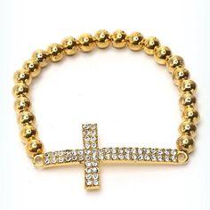 Stylish Golden Bracelet on sale now. Shop online for beautiful and elegant jewellery from shingar21.com. #goldenbracelet #jewellery