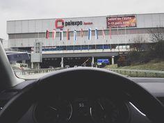 saying goodbye to daylight until firday. geneva car show 2016 here I am! #car #motor #show #geneva #swiss #switzerland #sport #international #amazing #ride #driving #work #drive #mercedes #skoda #ferrari #mclaren #vw #instagood #instapic #instadaily #travel #traveling #airport #genf by globetrottingbug