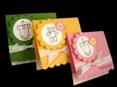 cute 3x3 cards - use Every Little Bit stamp set