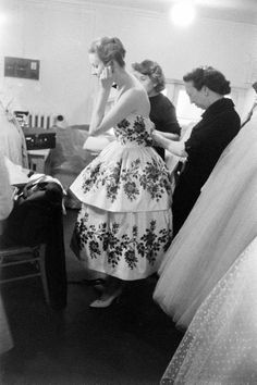 Backstage of Dior, 1950s