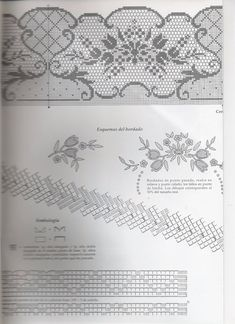View album on Yandex. Crochet Edging Patterns, Filet Crochet Charts, Crochet Borders, Crochet Designs, Basic Embroidery Stitches, Hairpin Lace, Crochet Tablecloth, Crochet Home, Crochet Projects