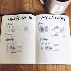 My grade/assignment tracker in my bullet journal
