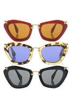 5aed67dce55d Miu Miu 50SS round sculptural sunglasses