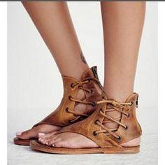 982d858c837f AGUTZM 2018 Summer Women Gladiator Vintage Sandals Lace Up Flip-Flops Strap  Flat Heel Shoes Leather Woman Sandalias Mujer