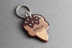 Ice Cream Pet ID Tag - Sweet Dessert Accessories, Pet Lovers Gifts, Cat Dog Tag - Pixsqueaks