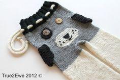 3-6 Month Puppy Longies (Button Eyes) Merino Wool. $55.00, via Etsy.