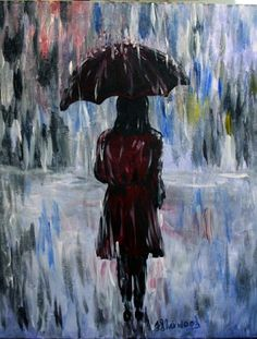 Paint Nite: Discover a new night out and paint and sip wine with friends Night Painting, Art Painting, Rain Painting, Pastel Painting, Painting Inspiration, Painting, Walking In The Rain, Life Art, Paint Nite