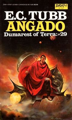 Angado / Dumarest of Terra 29 by E.G.Tubb / Book cover 1984 / 1983 (Ken Kelly)
