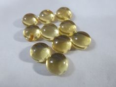sale & ship free NATURAL CITRINE  round cabochon 8x8 by 8gemsinc, $2.99
