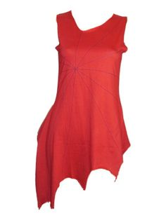 Sale Clearance 60% Off DJD Pixie Lazer Tunic Top Red S, M, L To Clear BIG SALE NOW ON AT mouseyessim on ebay