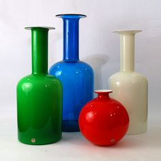 Michael Bang for Holmegaard Glass Ceramic, Ceramic Pottery, Glass Bottles, Glass Vase, Glas Art, Blenko Glass, Futuristic Design, Nyc, Opaline