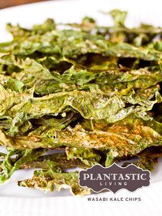 Wasabi Kale Chips