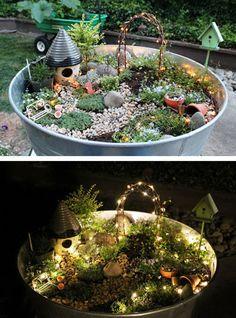 best fairy garden ideas 19 - All For Garden Fairy Garden Pots, Fairy Garden Houses, Diy Garden, Gnome Garden, Garden Crafts, Garden Projects, Garden Art, Garden Design, Fairy Gardening