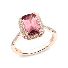 Beautiful Pink Gold Rings an exquisite ring featuring a pink tourmaline surrounded xsvdxtg - Jewelry Amor Pink Tourmaline Ring, Tourmaline Jewelry, Pink Jewelry, Diamond Jewelry, Pink Gold Rings, Rose Gold, Three Stone Engagement Rings, Fashion Rings, Wedding Rings