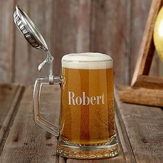 Groomsmen Gifts, Personalized Pewter Topped Beer Stein